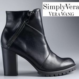 Simply Vera Vera Wang Canary High Heel Ankle Boots